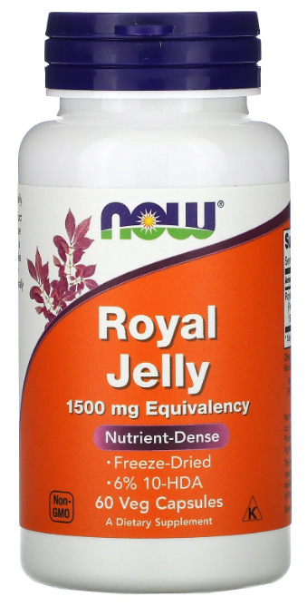 Now Foods Royal Jelly 1,500 mg - 60 Veg Capsules Buy online in Pakistan on Saloni.pk