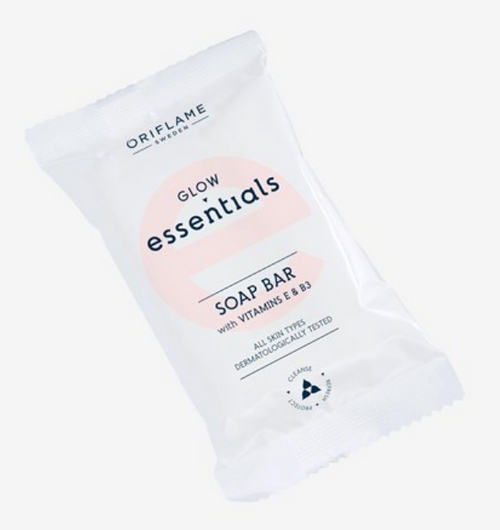 Oriflame Glow Essentials Soap Bar with Vitamins E & B3 - 75g Buy online in Pakistan on Saloni.pk