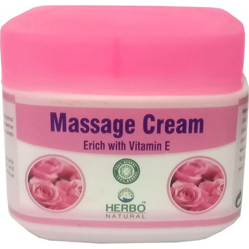 Herbo Natural Massage Cream Enrich with Vitamin E  Buy online in Pakistan on Saloni.pk