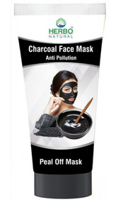Herbo Natural Charcoal Face Peel Off Mask - 100ml