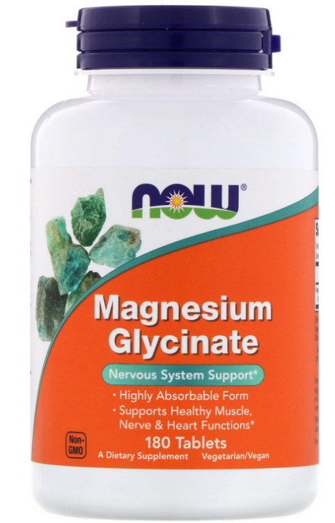Now Foods Magnesium Glycinate -180 Tablets Buy online in Pakistan on Saloni.pk