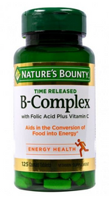 Nature's Bounty B-Complex - 125 Coated Tablets Buy online in Pakistan on Saloni.pk