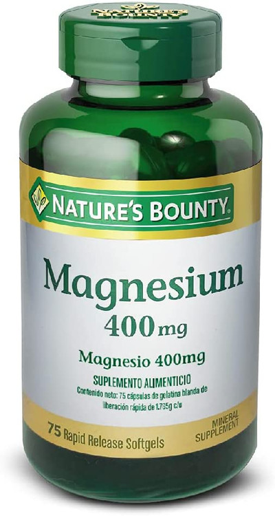 Nature's Bounty Magnesium 400mg - 75 Softgels Buy online in Pakistan on Saloni.pk