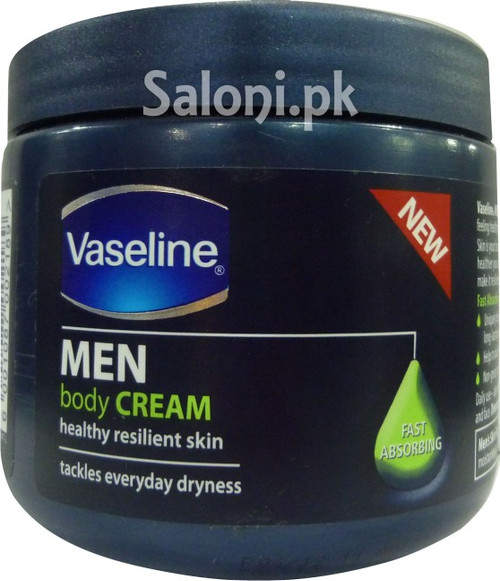 Vaseline Men Body Cream Fast Absorbing (Front)