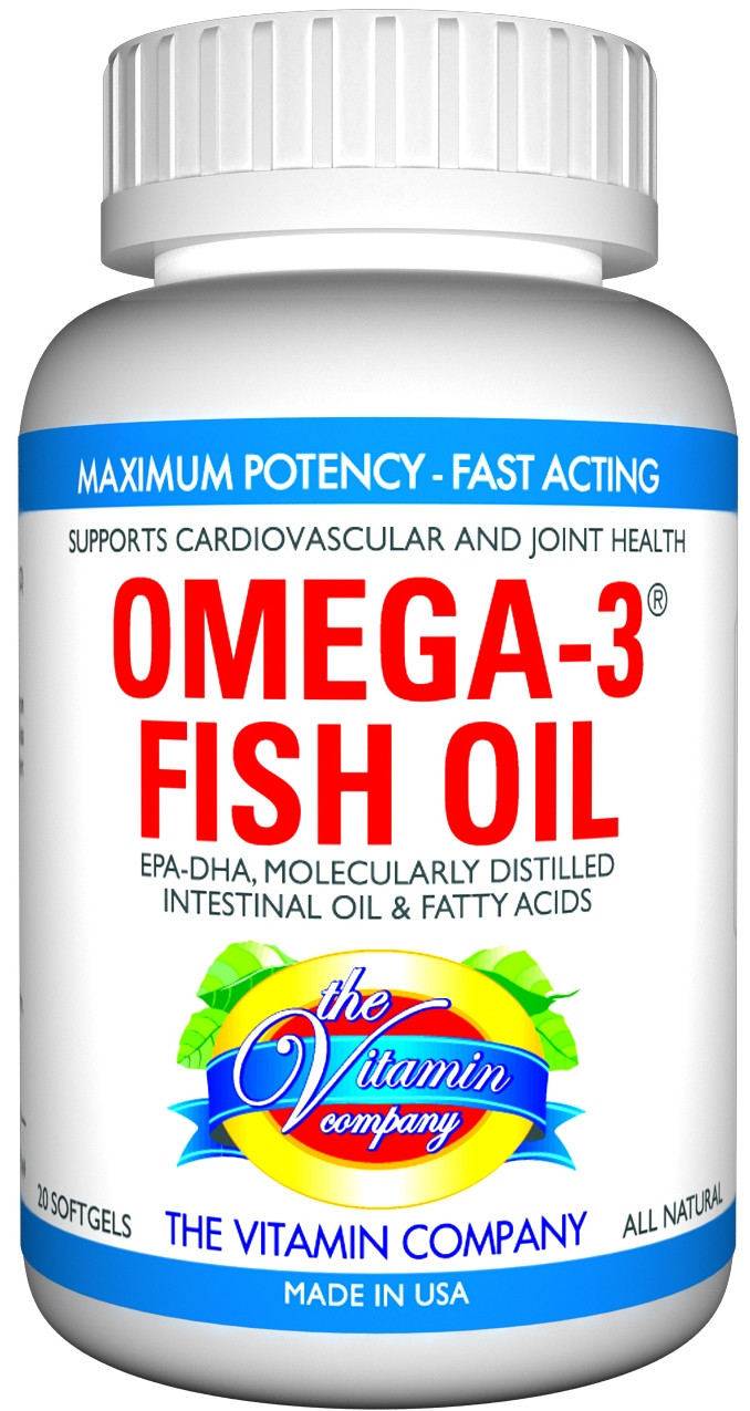 The vitamin company omega 3 fish oil 20 softgel for rs 400 for Top fish oil brands