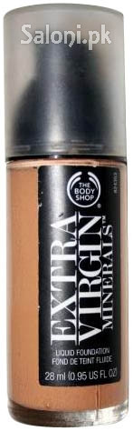 The Body Shop Extra Virgin Minerals Liquid Foundation Golden Caramel 405