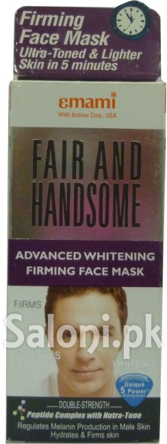 Emami Fair and Handsome Advanced Whitening Firming Face Mask (Front)