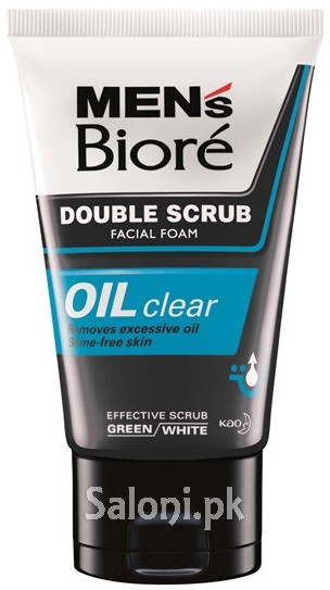 Men's Biore Double Scrub Oil Clear