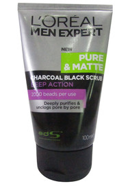 L'oreal Paris Men Expert Pure & Matte Charcoal Black Scrub 100 ML buy online in pakistan