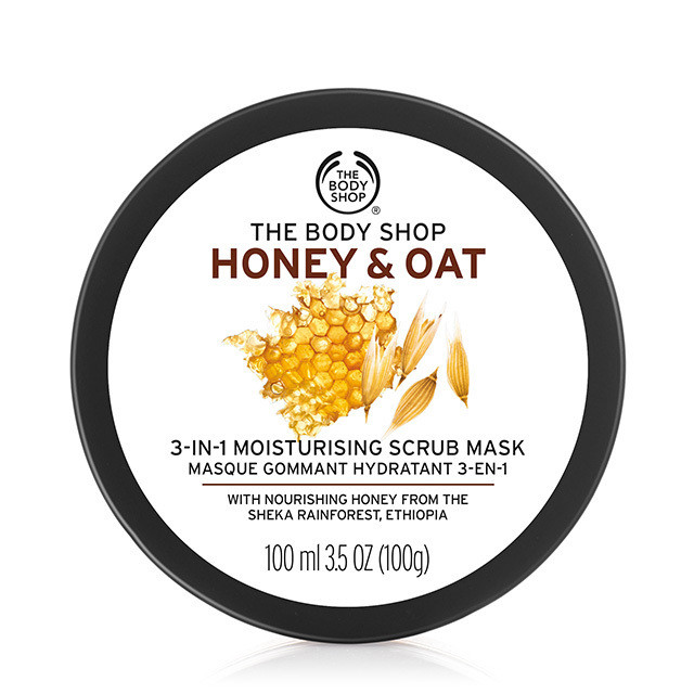 The Body Shop Honey Amp Oat 3 In 1 Scrub Mask 100 Ml For Rs
