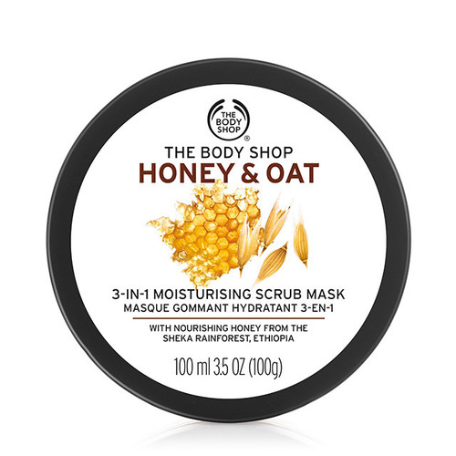 The Body Shop Honey & Oat 3 in 1 Scrub Mask  Buy online in Pakistan  best price  original product