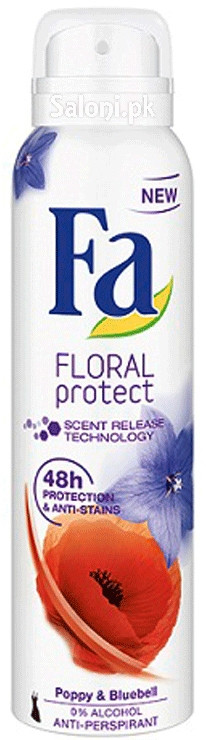 Fa Floral Protect Poppy & Bluebell Anti-perspirant
