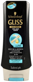 Schwarzkopf Gliss Hair Repair Restore & Refresh Conditioner 250 ML Lowest price at Saloni.pk