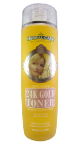 Hollywood Style Herbal Care Anti-Aging 24K Gold Toner 200 ML (Front)