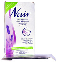 Nair Hair Removers Body Wax Strips with Lavender Fragrance