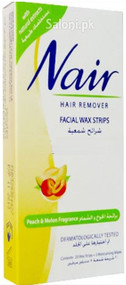Nair Hair Remover Facial Wax Strips with Peach & Melon Fragrance
