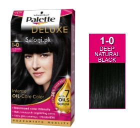 Schwarzkopf Palette Deluxe Intensive Oil Care Color Deep Natural Black 1-0