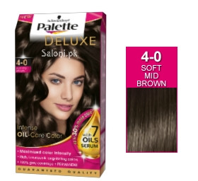Schwarzkopf Palette Deluxe Intensive Oil Care Color Soft Mid Brown 4-0