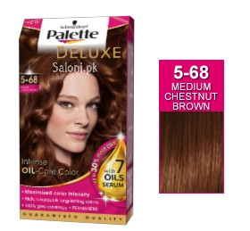 Schwarzkopf Palette Deluxe Intensive Oil Care Color Medium Chestnut Brown 5-68