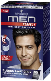 Schwarzkopf Men Perfect Anti-Grey Color Gel Natural Black 90