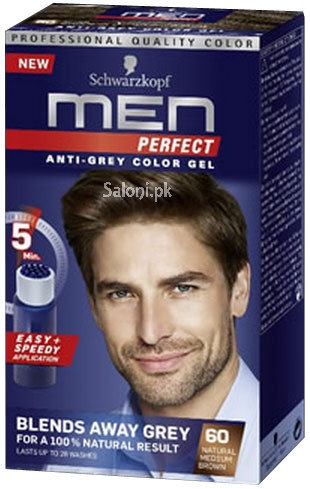 Schwarzkopf Men Perfect Anti Grey Color Gel Natural Medium Brown 60