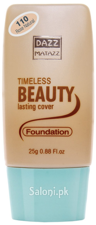 Dazz Matazz Timeless Beauty Lasting Cover Foundation 110 Rose Natural