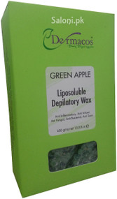 Dermacos Green Apple Liposoluble Depilatory Wax Front