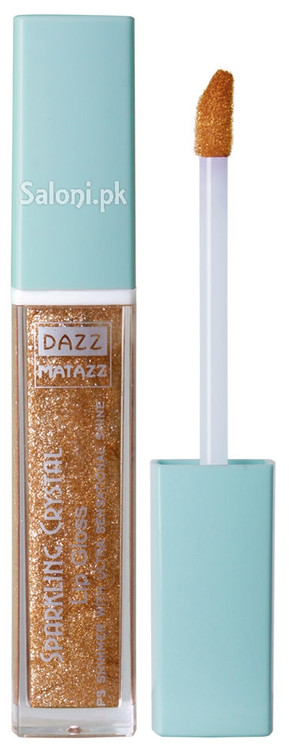 Dazz Matazz Sparkling Crystal Lip Gloss 02 Honey Front