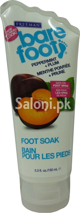 Freeman Foot Soak with Peppermint + Plum Front