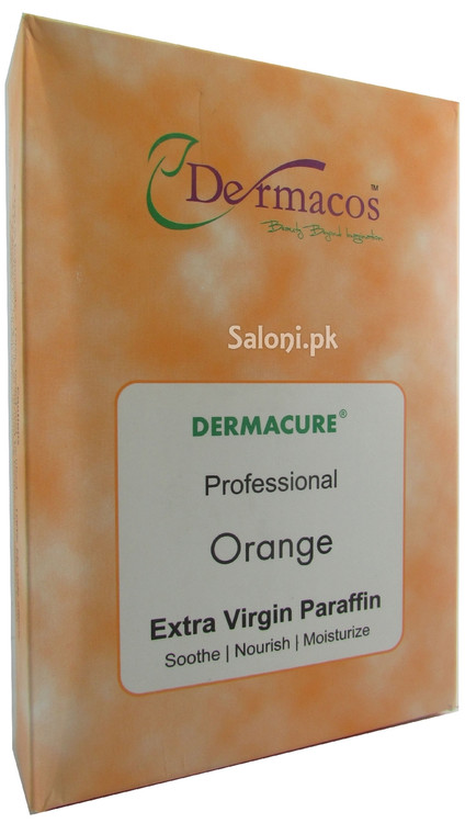 Dermacos Dermacure Professional Orange Extra Virgin Paraffin Wax Front