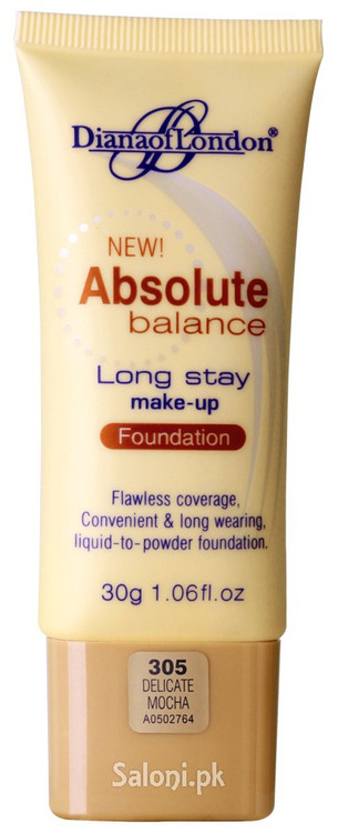 Diana Of London Absolute Balance Long Stay Make-up Foundation 305 Delicate Mocha Front
