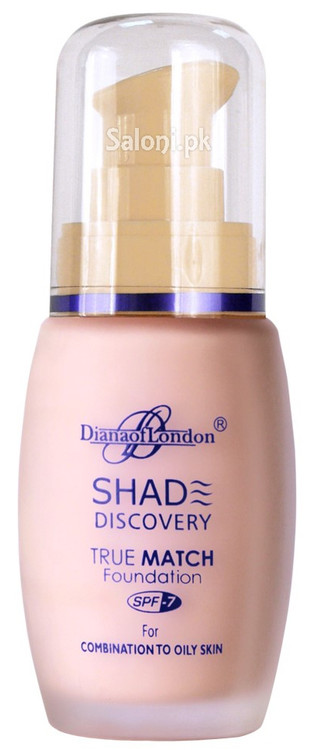 Diana Of London Shade Discovery Foundation 101 Pink Glow Front