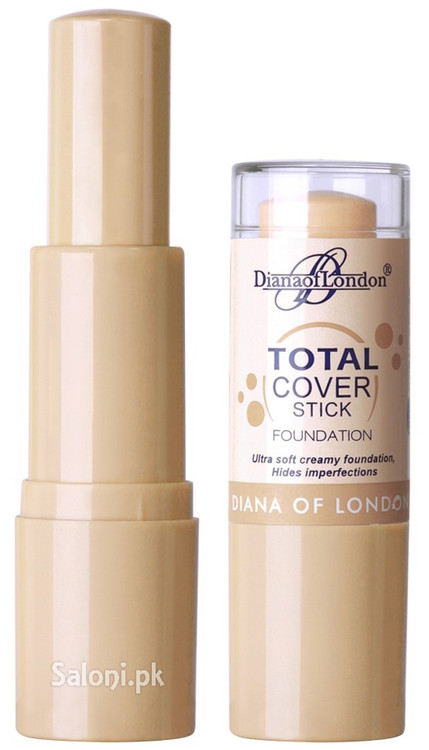 Diana Of London Total Cover Stick Foundation 502 Coral Cover Front