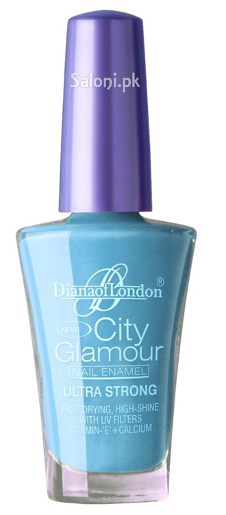 Diana City Glamour Nail Polish Blue Wave 30