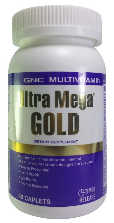 GNC Ultra Mega Gold Multivitamin With Iron 90 Caplets  Buy online in Pakistan