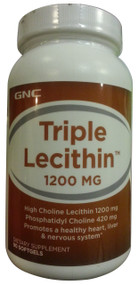 GNC Triple Lecithin 1200 mg 90 Softgels