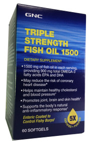 GNC Triple Strength Fish Oil 1500 (60 Softgels) buy online product in pakistan