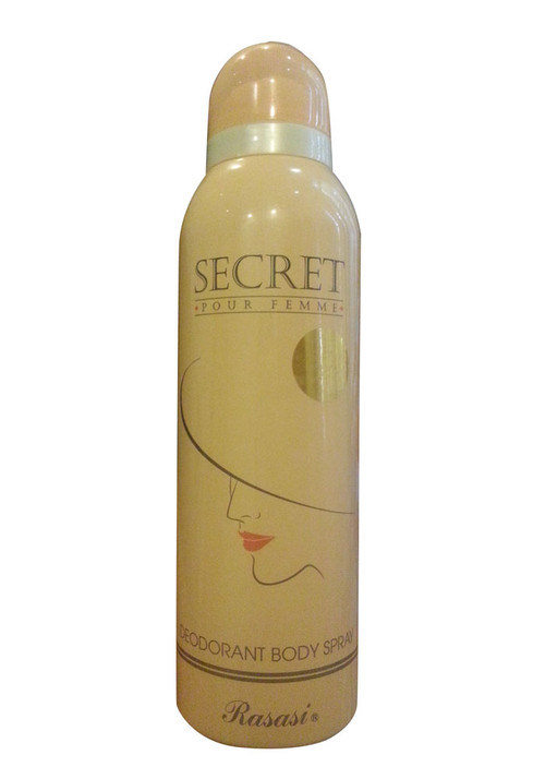 Rasasi Secret Pour Femme Deodorant Body Spray Front