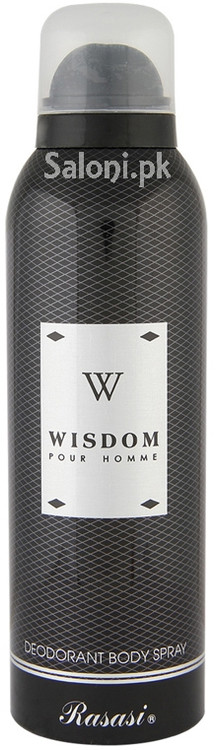 Rasasi Wisdom Pour Homme Deodorant Body Spray for Men