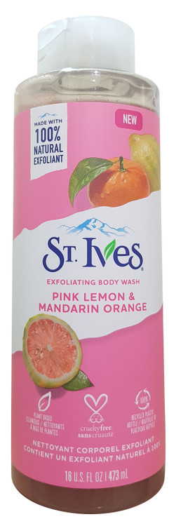 ST.Ives Even and Bright Pink Lemon and Mandarin Orange Body Wash 473 ml Buy online in pakistan on saloni.pk