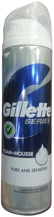 Gillette Series Pure & sensitive Foam Mousse Front