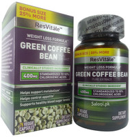 GNC ResVitale Weight Loss Green Coffee Bean 400 MG Front