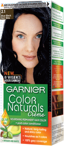 Garnier Color Naturals Hair Color Creme Blue Black 2.1