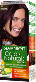 Garnier Color Naturals Hair Color Creme Dark Violet Dark Brown 3.20