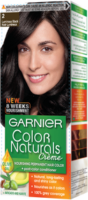 Garnier Color Naturals Hair Color Creme Luminous Black 2.0