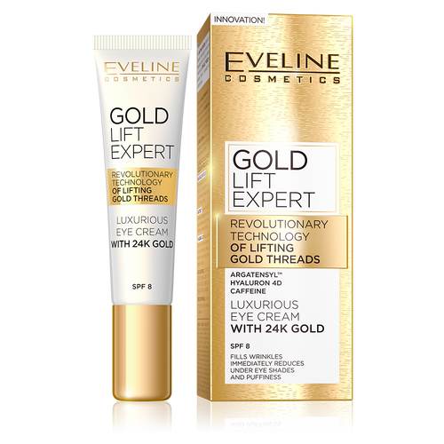 Eveline 24K Gold Lift Expert Luxurious Eye Cream 15 ML buy online in pakistan eveline products best price original products