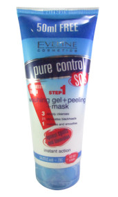 Eveline Pure Control Washing Gel + Peeling + Mask 150 ML (Front)