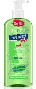 Eveline Pure Control Face Wash Gel Cleansing and Refreshing