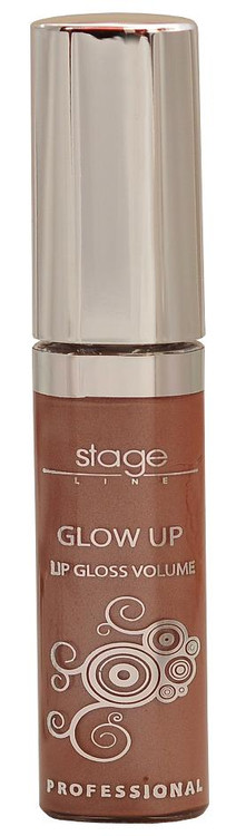 Stage Line Glow Up Lip Gloss Volume Light Brown