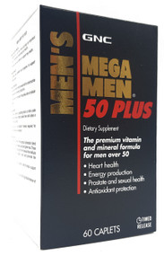 GNC Mega Men 50 Plus 60 Caplets  Buy online in Pakistan on Saloni.pk